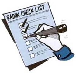 Description: radon checklist